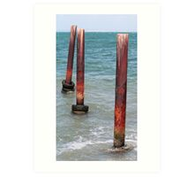 Three Poles - Kingscote Jetty Art Print