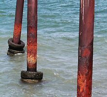 Three Poles - Kingscote Jetty by Stephen Mitchell