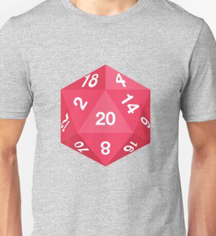Red d20 Unisex T-Shirt