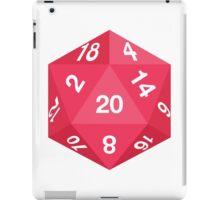 Red d20 iPad Case/Skin