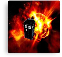 tardis in the sun dr who Canvas Print