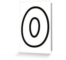 Comic Number 0 zero Greeting Card