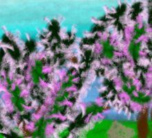 Digital Finger Painting: Trees in Blossom Sticker