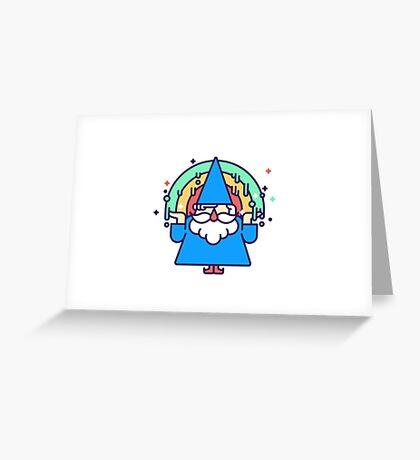 Rainbow Wizzard Greeting Card