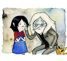 Adventure Time Marceline and Ice King Photographic Print
