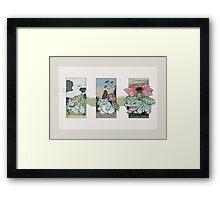 Saur Pocket Ukiyo-e Framed Print