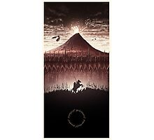 Lord of the Rings - The Ring Design Red Photographic Print
