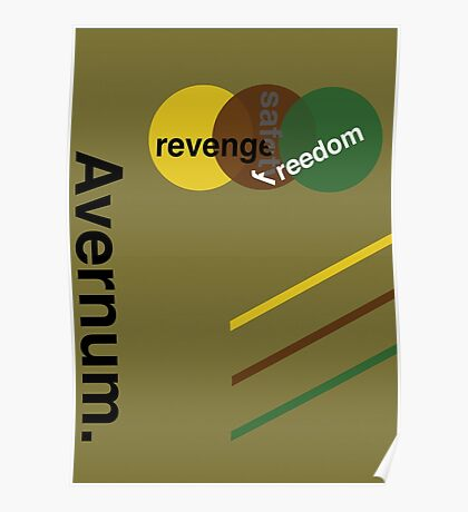 Swiss Design: Avernum - Revenge, Safety, Freedom Poster