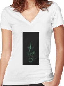 Lord of the Rings - Nazgul Design Glowing Women's Fitted V-Neck T-Shirt