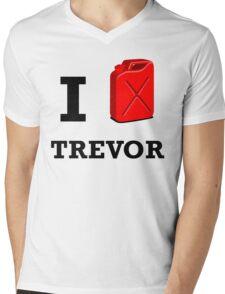 I Love Trevor Mens V-Neck T-Shirt