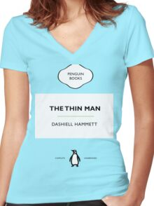 The Thin Man Book Cover tee Women's Fitted V-Neck T-Shirt