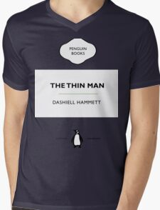 The Thin Man Book Cover tee Mens V-Neck T-Shirt