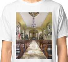 Majestic church interior panoramic view, Maisonsgoutte, France Classic T-Shirt