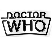 Doctor Who logo 1984-1986 Poster