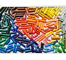 Rainbow Crayons Photo Photographic Print