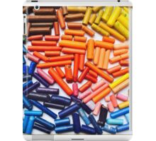 Rainbow Crayons Photo iPad Case/Skin