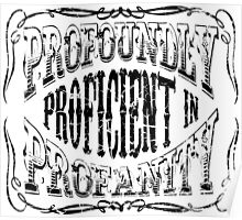 Profoundly Proficient In Profanity Poster