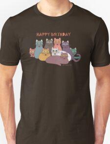 HAPPY BIRTHDAY by NINE CATS  Unisex T-Shirt