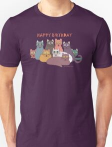 HAPPY BIRTHDAY by NINE CATS  T-Shirt