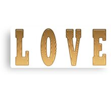 Love Word in Wood Canvas Print
