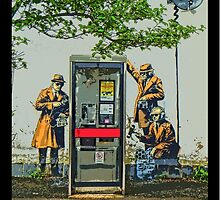 GCHQ listening post by Banksy by TimConstable