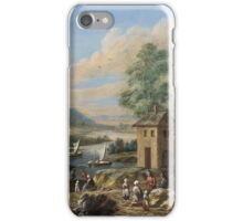 Marc Baets, River Landscape with a Ruin and Rural Staffage iPhone Case/Skin