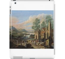 Marc Baets, River Landscape with a Ruin and Rural Staffage iPad Case/Skin