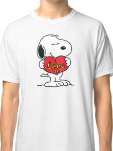 love you snoopy love it Classic T-Shirt