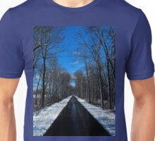 Something blowing in my head..Winds of ice that soon will spread..Down to freeze my very soul..Makes me happy, makes me cold..The snowflakes glisten on the trees..Snowblind Unisex T-Shirt