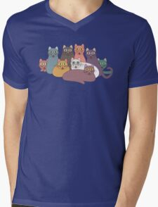 NINE CATS WITH NINE LIVES = ? Mens V-Neck T-Shirt