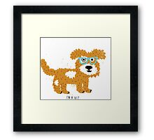 fun dog hipster style Framed Print