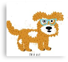 fun dog hipster style Canvas Print