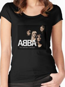 ABBA Albums minahasa Women's Fitted Scoop T-Shirt