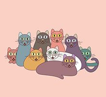 NINE CATS WITH NINE LIVES = ? by Jean Gregory  Evans