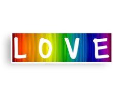 Pride/Humour - Rainbow Love Canvas Print