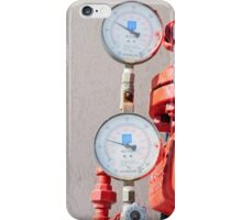 Water pressure gauge on a fire suppression system iPhone Case/Skin