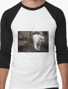White tiger Men's Baseball ¾ T-Shirt