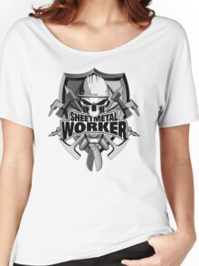 Sheetmetal Worker Skull and Tools Women's Relaxed Fit T-Shirt