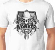 Sheetmetal Worker Skull and Tools Unisex T-Shirt