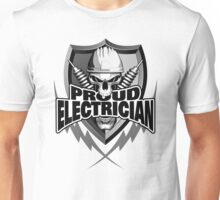 Proud Electrician | Skull and Thunder Bolts Unisex T-Shirt