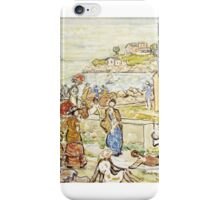Maurice Brazil Prendergast , BATHERS AND STROLLERS AT MARBLEHEAD iPhone Case/Skin