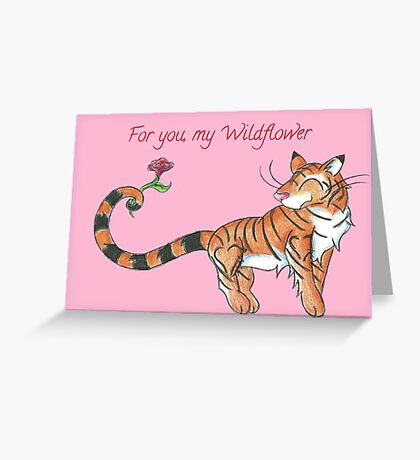 Striped Swooner Greeting Card