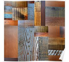 Reclaimed Wood Abstract 2.0 Poster