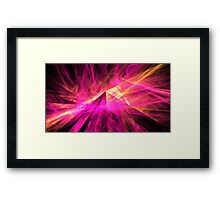 Pyramid Rays Framed Print