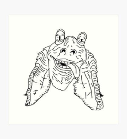 Meesa Jar Jar Binks.  Art Print