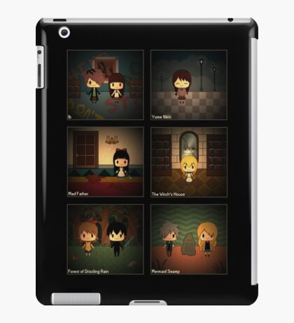 Horror RPG Chibis w/ Background iPad Case/Skin
