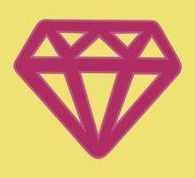 Pink Kitsch Diamond Baby Tee