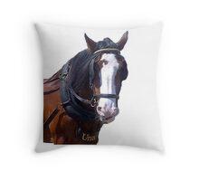 UNA Horse Trammer Throw Pillow