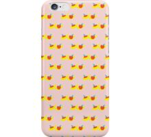 Pattern with bananas and apples iPhone Case/Skin