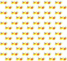 Pattern with bananas and apples by bus109